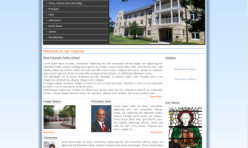 BLUE FOUNTAIN - School & College Template for Webbuilder