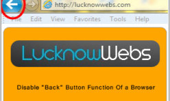 "Disable ""Back"" Button function of your Browser - Extension for Webbuilder"