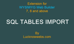 SQL Database Table Import Extension for Web Builder