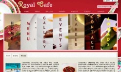 ROYAL CAFE - Restaurant Template for Webbuilder
