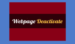 Webpage Deactivate Extension for Webbuilder 11x