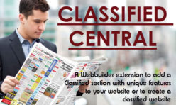 Classified Central Pro - classified directory extension for webbuilder 12x