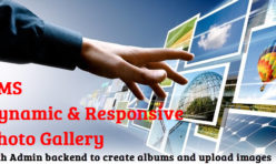 CMS Photo Gallery (with Admin backend) extension for webbuilder 11x